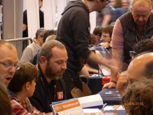 Play testing at the UK Games Expo