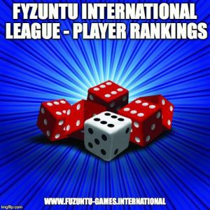 Positions of players in the Fyzuntu League Rankings