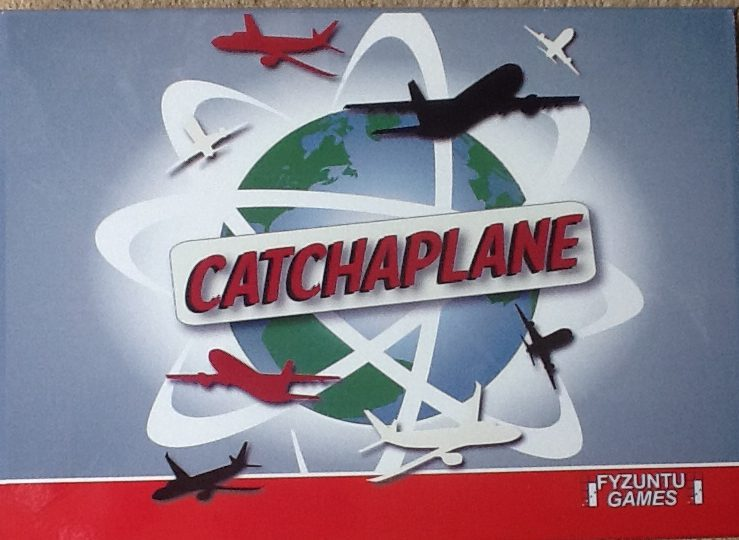 The box lid for Fyzuntu Games' Catchaplane board game