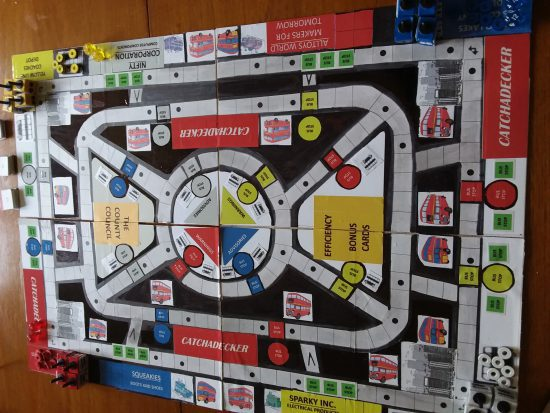Image of the Catchadecker Prototype two playing board.