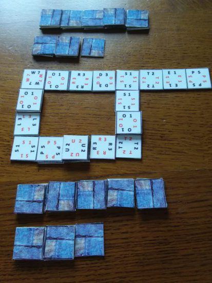 Wordstep game tiles shown in a typical game situation .