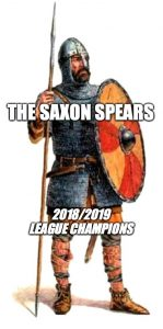 An image of the new icon for the Saxon Spears reflecting their winning of the Fyzuntu International League for the 2018/2019 season.